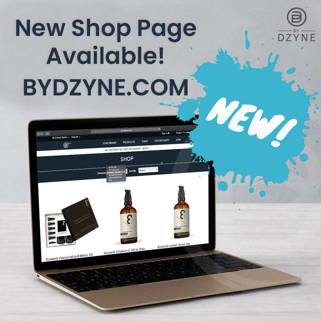 Shop Page now available on the ByDzyne website. Shop all products on one page!