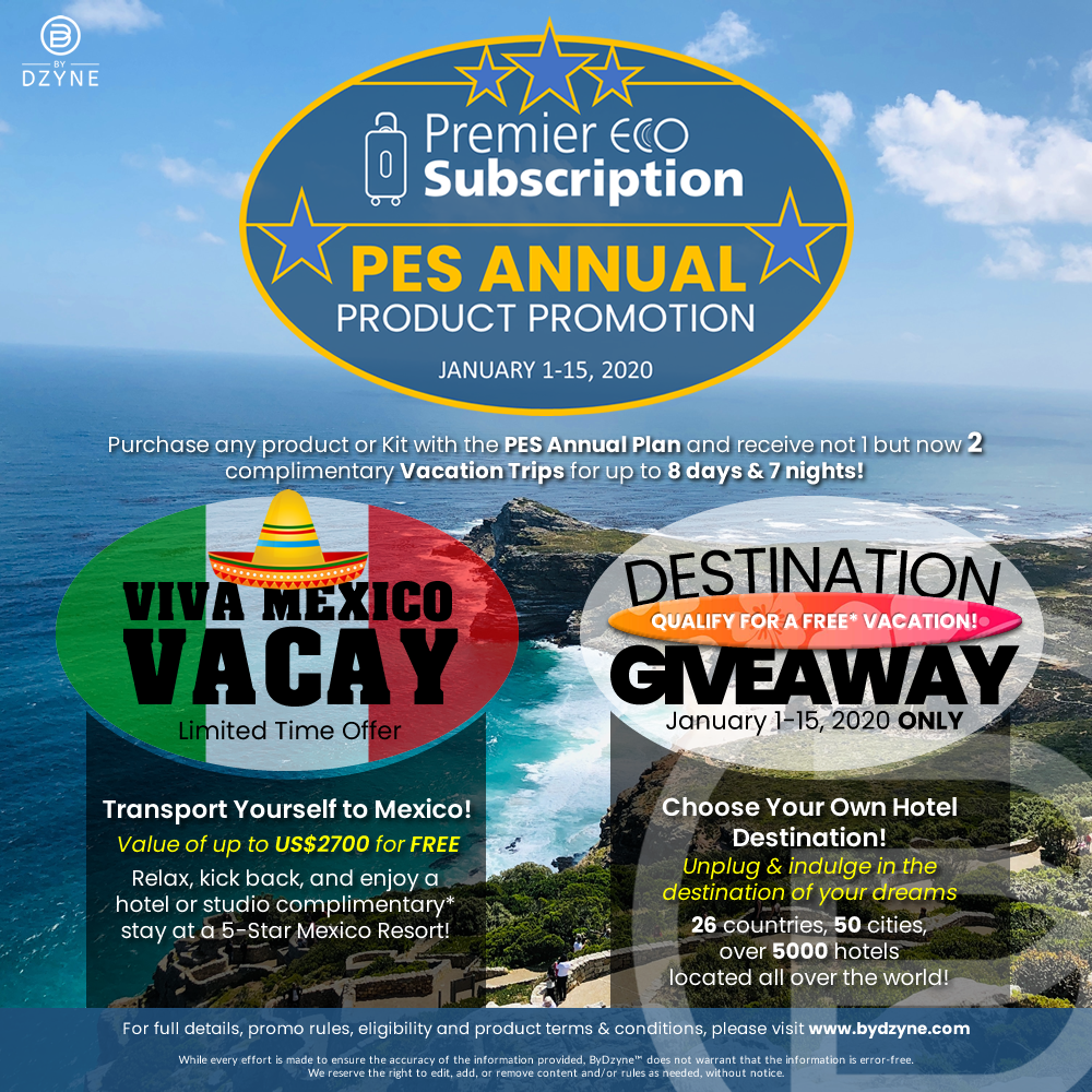 PES Annual Product Promotion (Jan. 1-15, 2020)