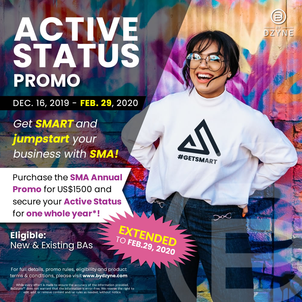 Active Status Promo EXTENDED (Dec 16, 2019 – Feb 29, 2020)