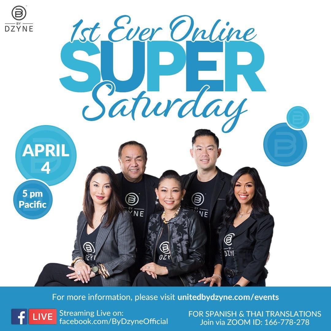 Ready for the FIRST EVER VIRTUAL SUPER SATURDAY on APRIL 4th?!